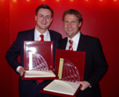 World Media Award 2004: Dr. Nikolai A. Behr (BMW Group) and Achim Beisswenger (Bavaria Film Interactive)