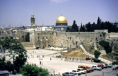 Wailing wall and Dome of the Rock, Jerusalem (Israel)